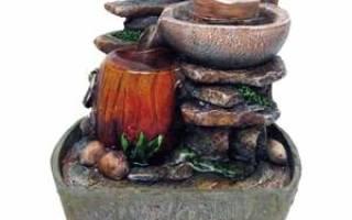 Как сделать мини-фонтан своими руками: технология строительства и декорирование