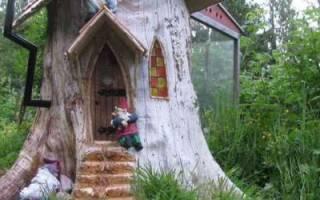 Использование спиленных деревьев в ландшафтном дизайне: варианты на фото