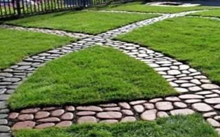 Садовые дорожки на участке: форма, разметка, мощение