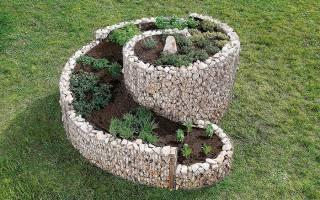 Овощная клумба — спираль, своими руками