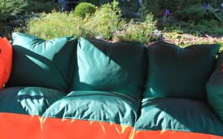 Качели садовые деревянные с подушками и чехлами: как сделать своими руками