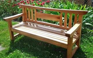 Как сделать дачную скамейку своими руками, инструкция