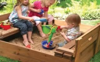 Песочница своими руками: как сделать детскую песочницу с крышкой и навесом