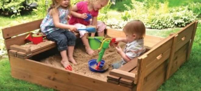 Как сделать своими руками песочницу с крышкой и скамейкой и в виде корабля и машины