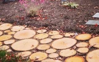 Садовая дорожка своими руками — как сделать её из пеньков и спилов (видео)