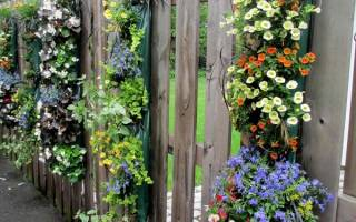 Декорирование забора: как украсить забор на даче своими руками
