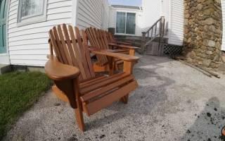 Стул-кресло для дачи своими руками