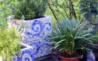 Применение мозаики в саду или даче