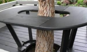 Стол — вокруг дерева своими руками