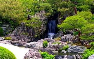 Японский водопад своими руками: особенности устройства и оформления