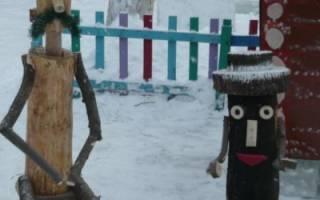 Деревянный человечек для сада своими руками