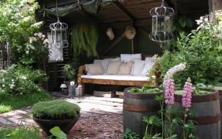 Оформление патио на даче: идеи и готовые решения для садового интерьера