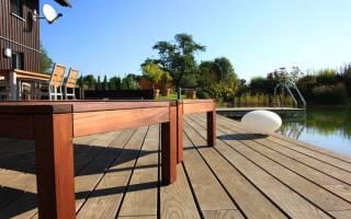 Декинг: террасная доска из ДПК и полимера — монтаж садового паркета