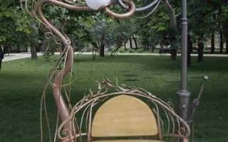 Скамейки для дачи садовые: из дерева, металла, кованые