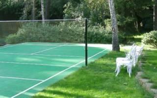 Как сделать спортивную площадку на даче, газон для нее. Видео