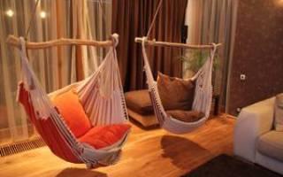 Подвесное кресло-гамак своими руками: как сделать кресло из текстиля и макраме