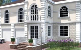 Как оформить фасад дачи с помощью полиуретановой лепнины. Видео