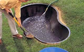 Как сделать пруд на даче своими руками из стеклопластиковой ёмкости