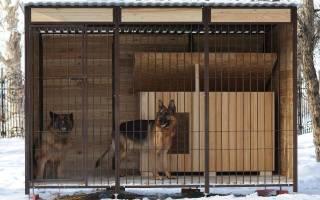 Вольер для собаки своими руками: чертежи и этапы строительства недорого жилища